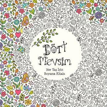 Kitap Dort Mevsim Her Yas Icin Boyama Dort Nokta Yay Gencler